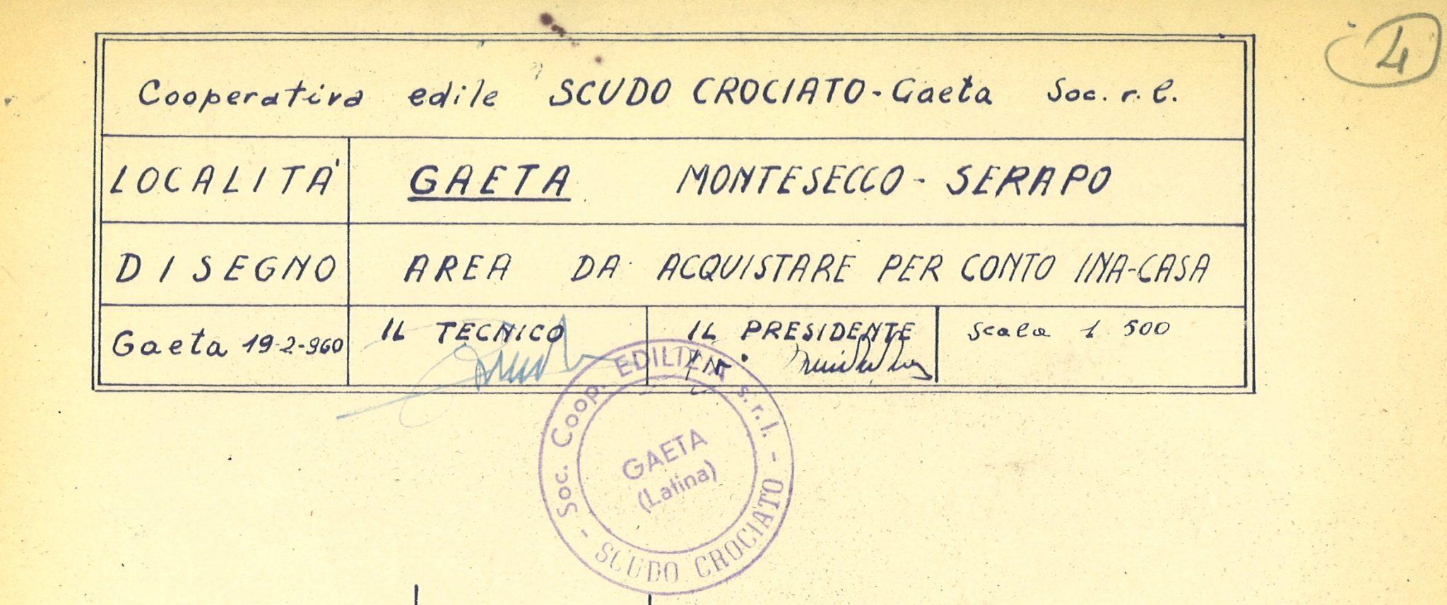 Misurazione di area per costruzioni INA-Casa in Gaeta (1960)