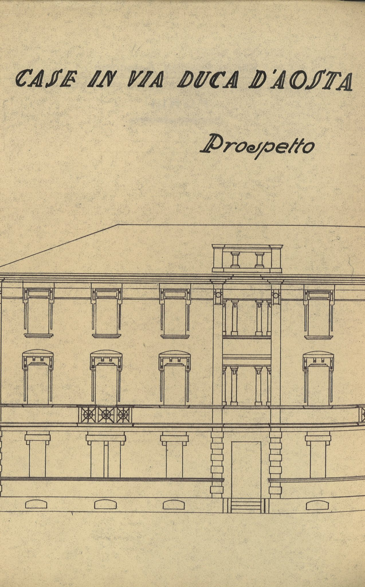 Prospetto di edificio IFACP in Forli (1937)