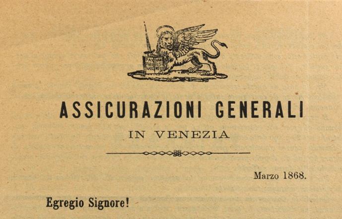 Padua agency flyer (1868), lion detail / ph. Duccio Zennaro