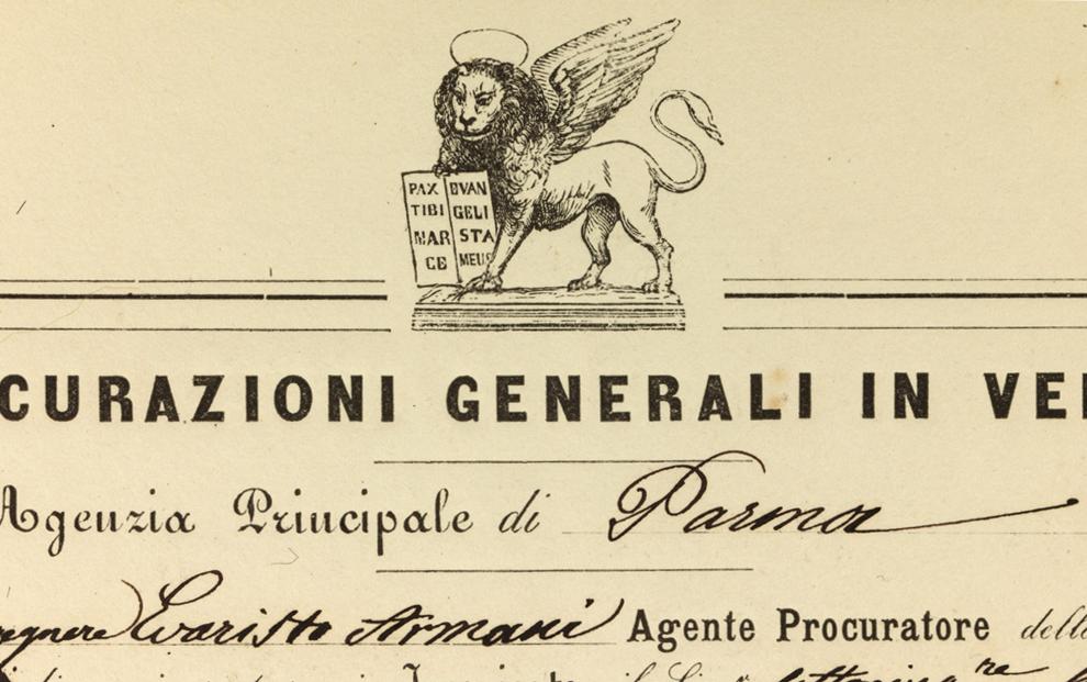 Parma agency mandate (1860), lion detail / ph. Duccio Zennaro