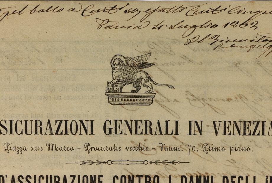 Mella policy (1862), lion detail / ph. Duccio Zennaro