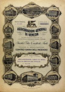Fire insurance policy (Rome, 1921) / ph. Duccio Zennaro