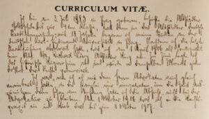 Richiesta di impiego di Franz Kafka (1907), dettaglio del curriculum manoscritto / ph. Duccio Zennaro