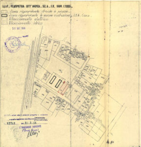 Planimetry of an INA-Casa building site (1953)
