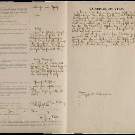 Richiesta di impiego di Franz Kafka (Praga, 02.10.1907) / ph. Duccio Zennaro