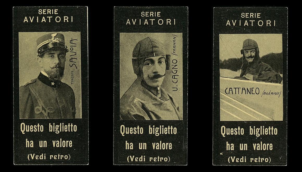 Figurine Anonima Infortuni, serie aviatori [1910]