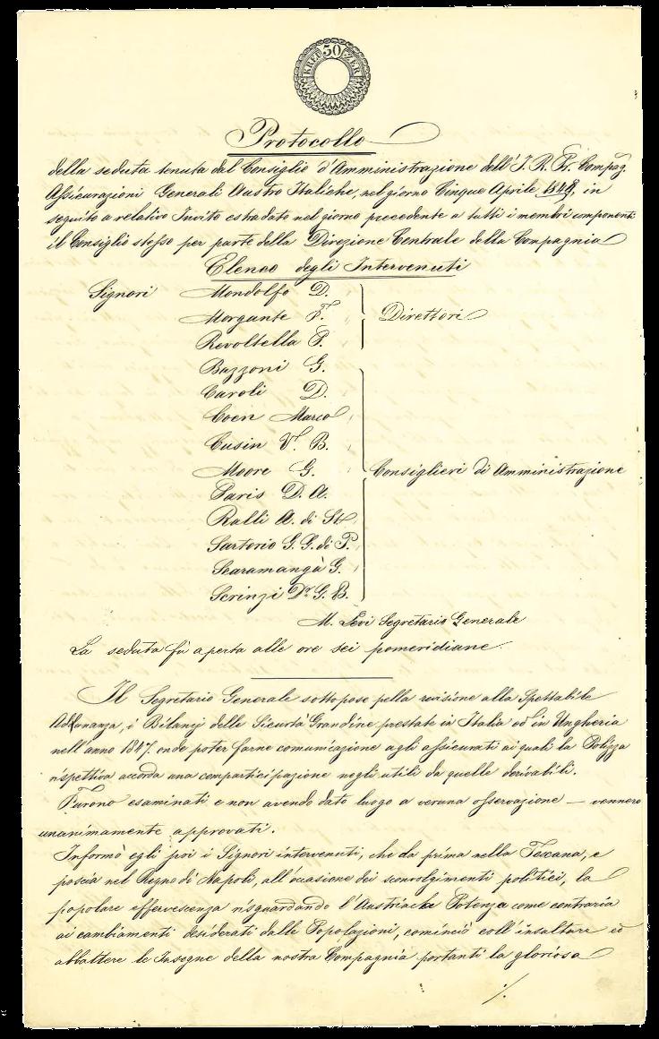 Verbale n. 48 del CdA (Trieste, 5 aprile 1848), p. 1