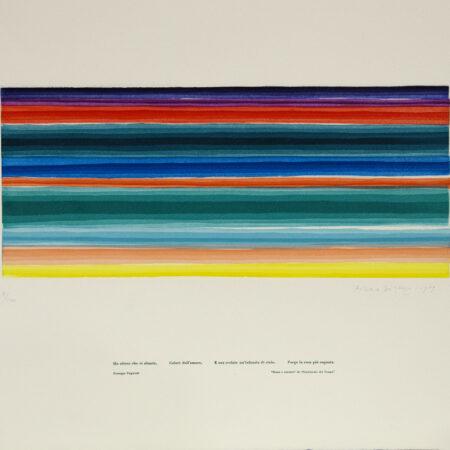 Piero Dorazio, aquatint in 10 colors (1979)