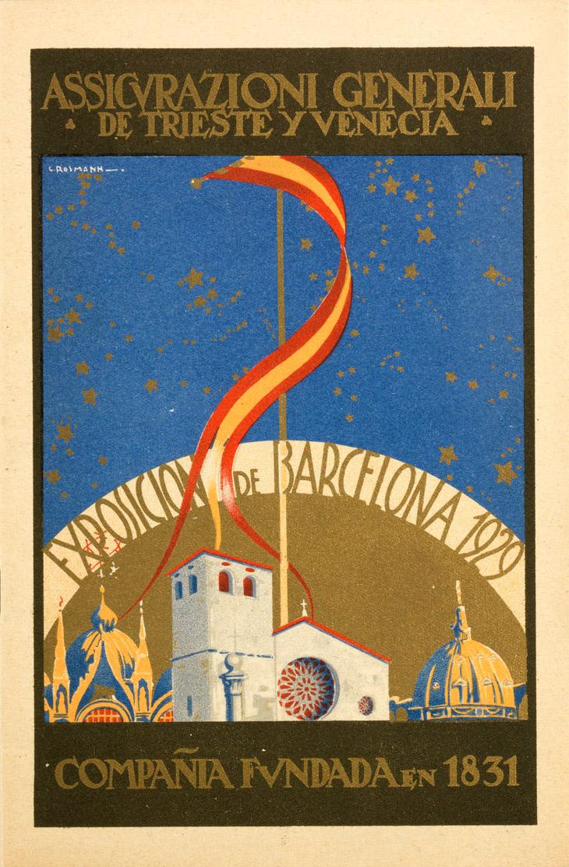 Brochure pubblicitaria per l'Expo di Barcellona (1929)