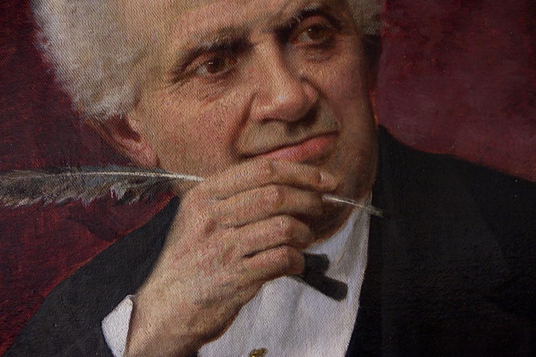 Luigi Sorio, Masino Levi, olio su tela (fine XIX sec.) / ph Massimo Goina