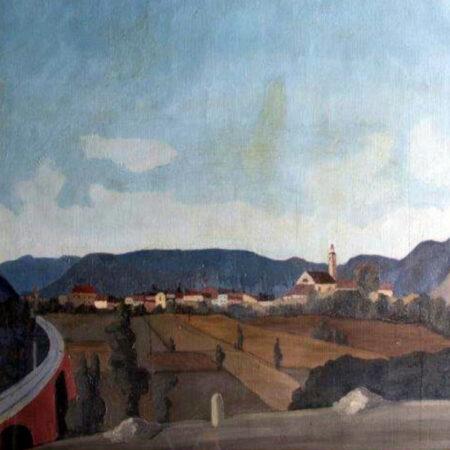 Napoleone Giovanni Fiumi, Il viadotto, oil on canvas (1938)