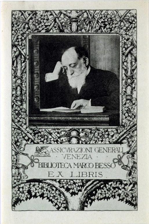 Marco Besso nell'ex libris della Biblioteca Marco Besso di Venezia [1919] / ph. Duccio Zennaro