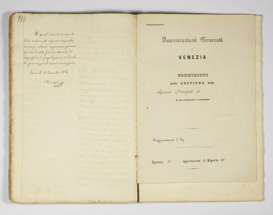 Progetto di Daniele Francesconi (1860), particolare della firma / ph. Duccio Zennaro