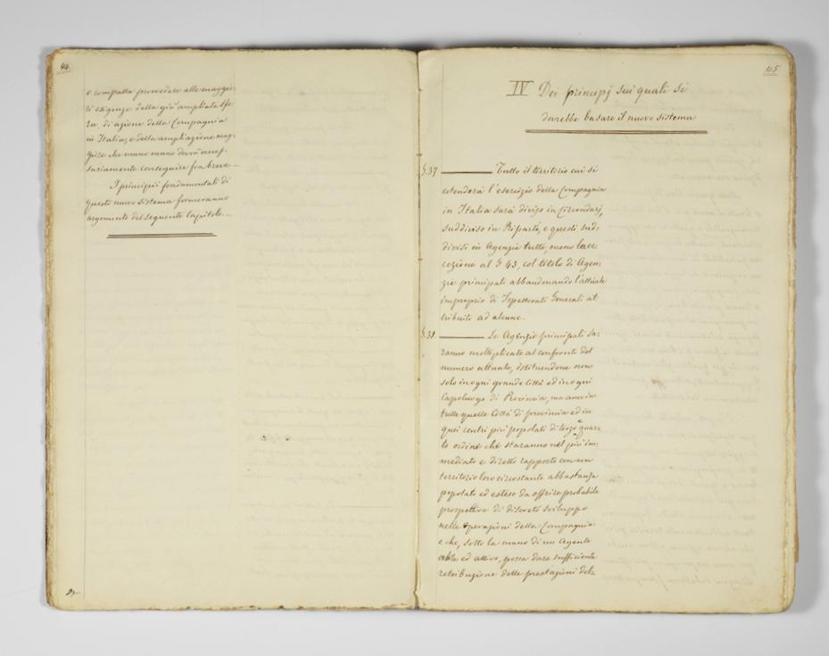 Progetto di Daniele Francesconi (1860), pagine interne / ph. Duccio Zennaro