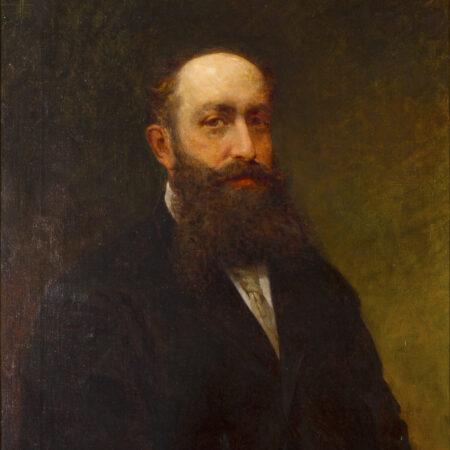 Eugenio Scomparini, portrait of Marco Besso, oil on canvas (1877) / ph. Massimo Goina
