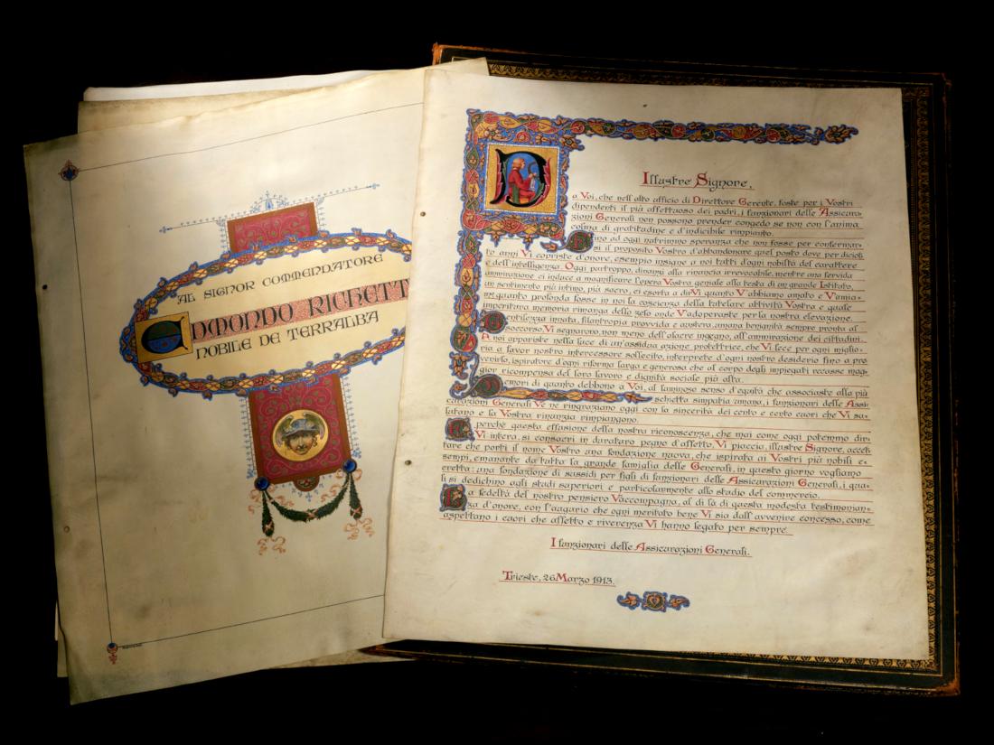 Diploma in onore di Edmondo Richetti (Trieste, 1913) / ph. Duccio Zennaro