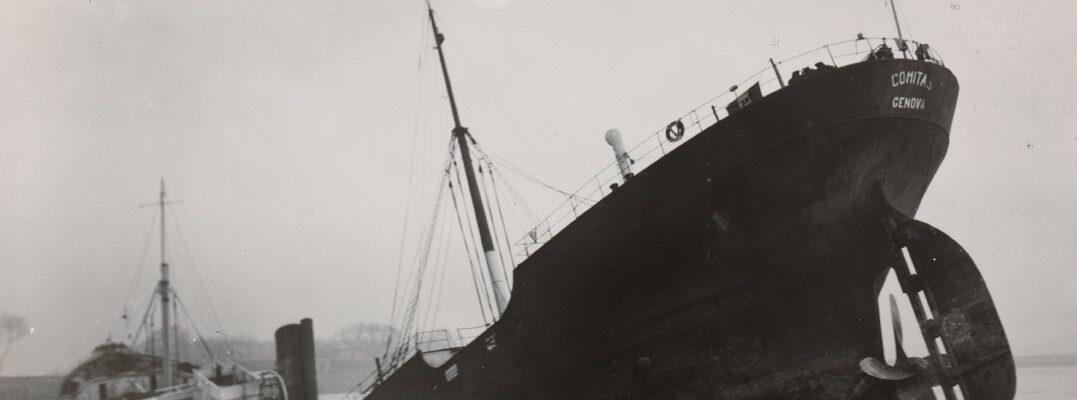 Perizia sul piroscafo Comitas, corredo fotografico (Vlissingen, dicembre 1939)