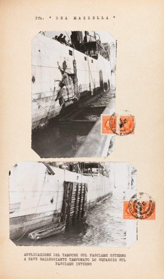 Inspection of the steamship Dea Mazzella, accompanying photos (Naples, September 25, 1942)
