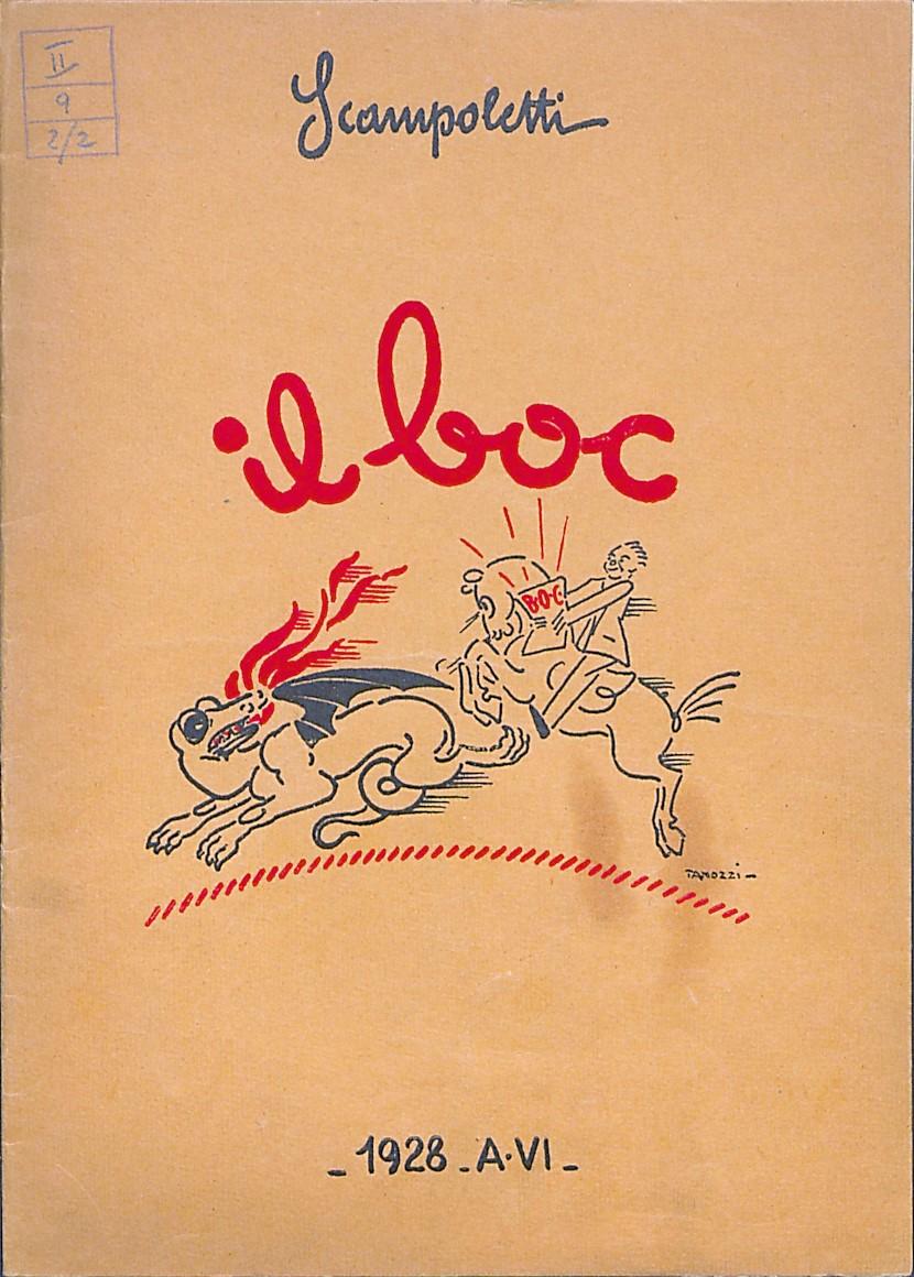 Opuscolo pubblicitario il Boc, coperta (1928)