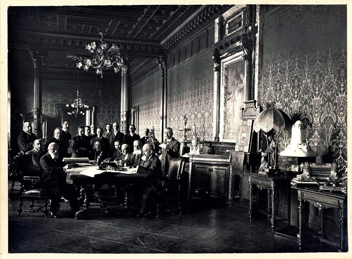 Interiors of the Board Room of the Head Office in Trieste (1907)