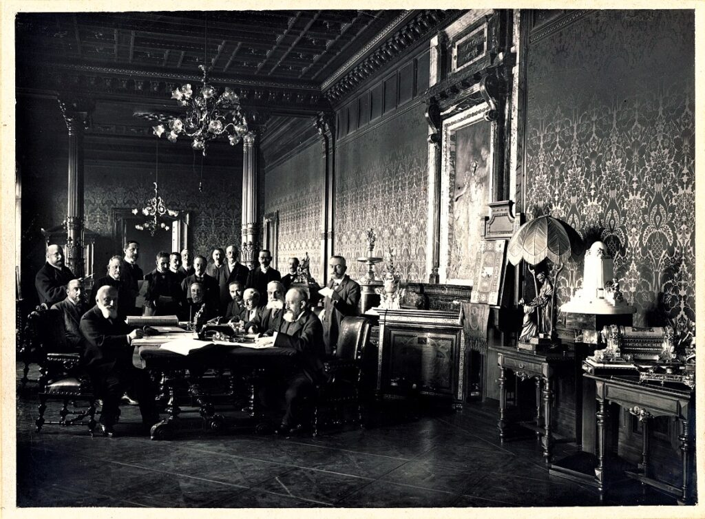 Gli interni della Direzione di Trieste (1907)