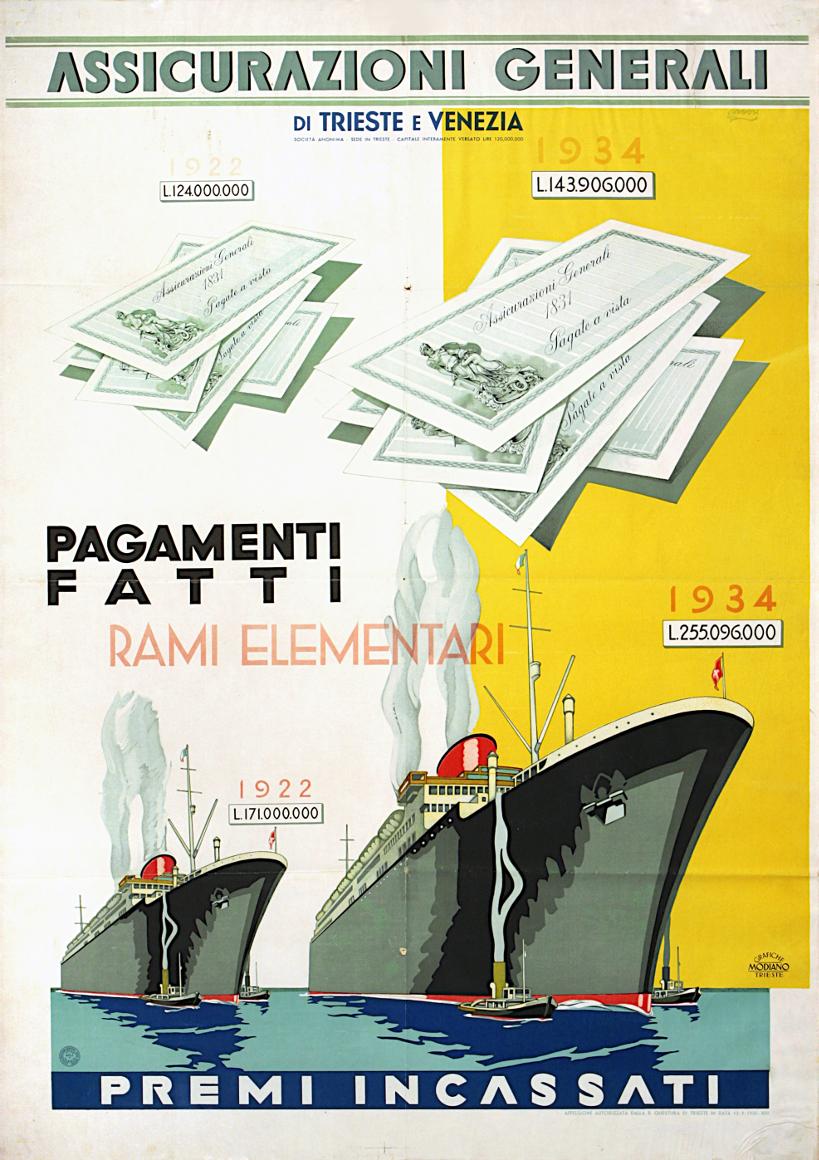 Pollione Sigon, manifesto pubblicitario (1935) / ph. Massimo Goina