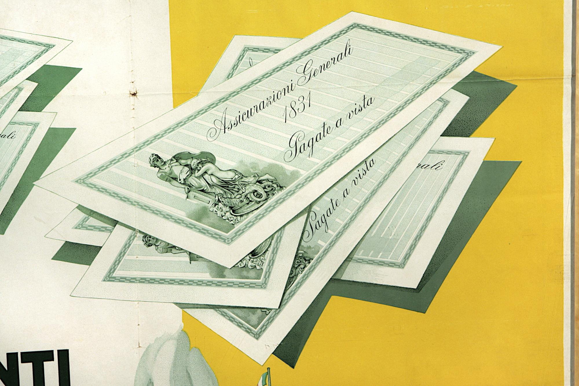 Pollione Sigon, manifesto pubblicitario (1935), particolare / ph. Massimo Goina