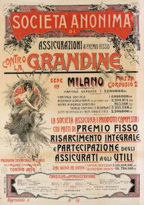Anonimo, manifesto pubblicitario de L'Anonima Grandine (1900), ph. Massimo Goina