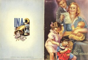 Adolfo Busi, INA informative brochure (1940s)