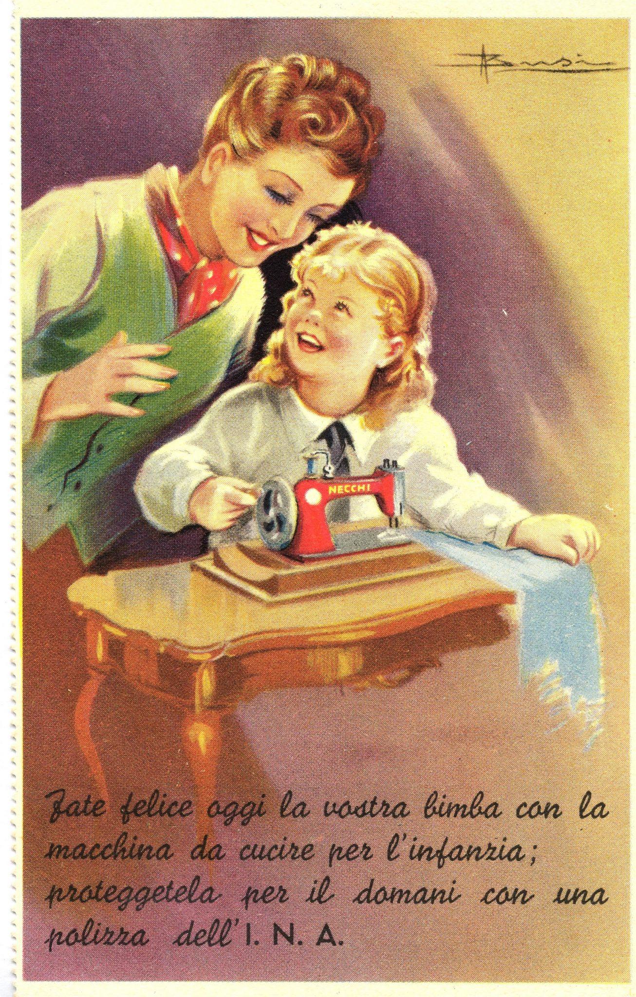 Adolfo Busi, cartolina INA (anni trenta del XX secolo)