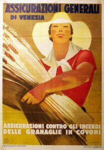 Marcello Dudovich, manifesto pubblicitario Assicurazioni Generali Venezia (1938)
