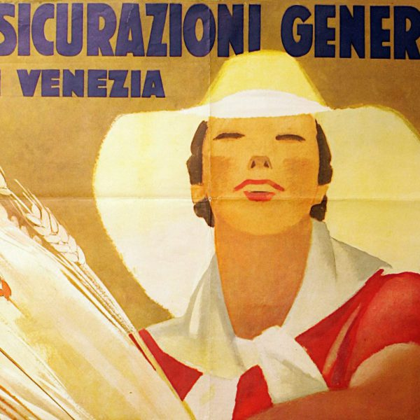 Marcello Dudovich, Assicurazioni Generali Venezia advertising poster (1938), detail