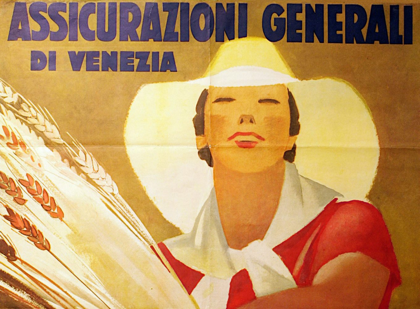 Marcello Dudovich, Assicurazioni Generali Venezia advertising poster (1938), detail