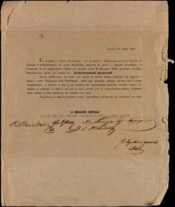 Circolare della Direzione Centrale (Trieste, 8 aprile 1848) / ph. Duccio Zennaro