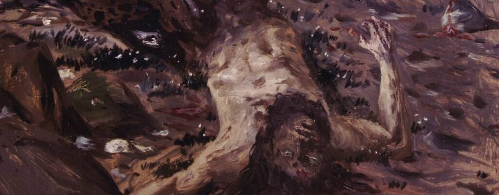 Giorgio De Chirico, Dying centaur (1909), detail