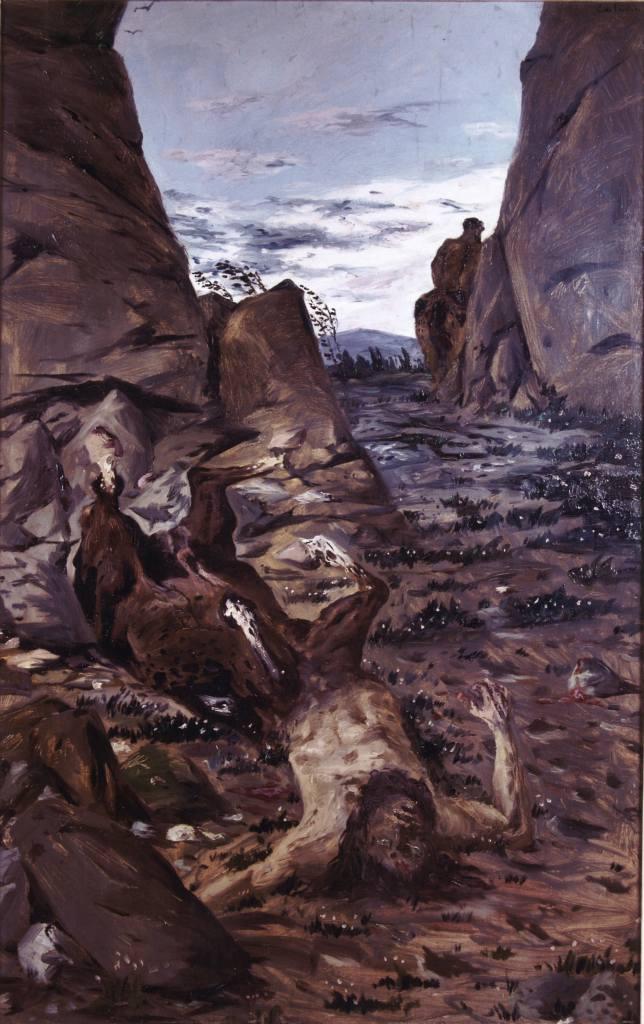 Giorgio De Chirico, Dying centaur (1909)