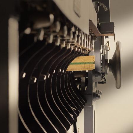 Sorting machine (1930s), detail / ph. Massimo Gardone